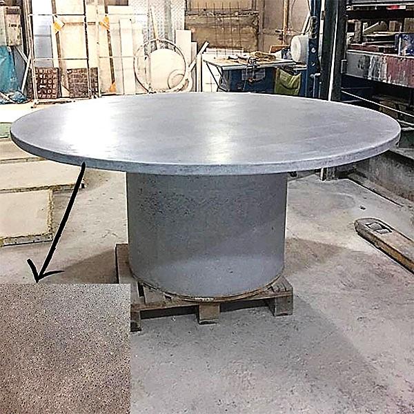 Çap 180 cm Beton Masa ve Masa Ayağı