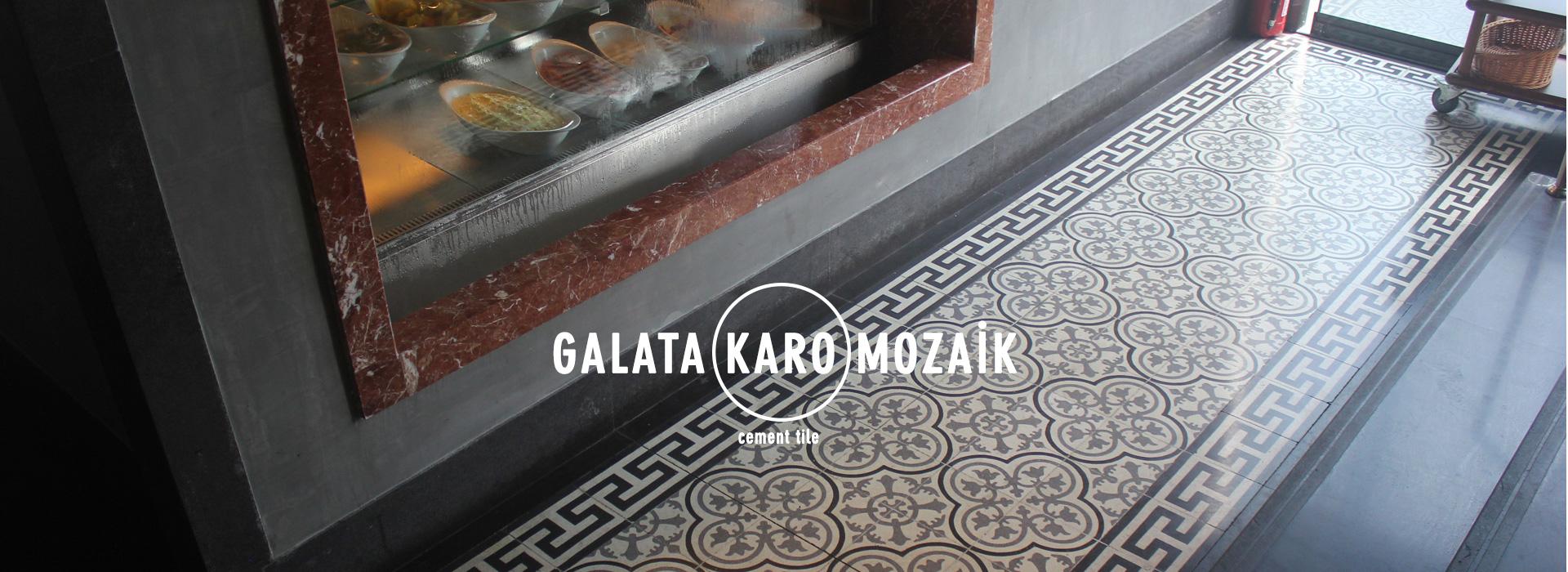 Galata Karo Mozaik - Desenli Karo Çini